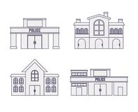 City buildings design. City buildings icons over white background vector illustration Royalty Free Stock Photos