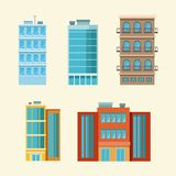City buildings isolated. Vector illustration graphic design Royalty Free Stock Image