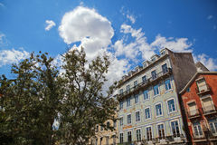 City buildings of Lisbon Stock Photography