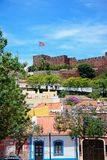 City buildings and castle, Silves, Portugal. Royalty Free Stock Image