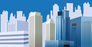 City Buildings. Modern city skyline illustration design Royalty Free Stock Images
