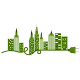 city buildings and plug design. Ctiy building and plug icon. Architecture urban modern and metropolis theme.  design. Vector illustration Royalty Free Stock Photos