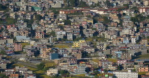 City buildings in Pokhara stock video