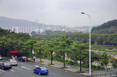 City. Buildings, roads and green belts of the city constitute the elements Royalty Free Stock Image
