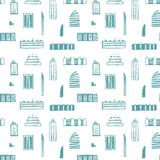 City Buildings Seamless Pattern Royalty Free Stock Photo
