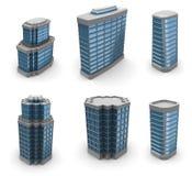 City Buildings Set Stock Photo