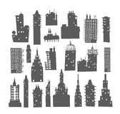 City buildings set Royalty Free Stock Photos