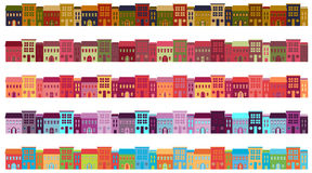 City Buildings. Set of City Buildings in variety of color schemes Stock Images