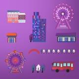 01 City buildings set Royalty Free Stock Photo
