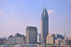 City buildings in Shanghai Bund Royalty Free Stock Photography