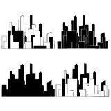 City,  Buildings silhouettes vector Stock Photos
