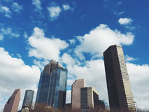 City Buildings Under Cloudy Blue Sky Royalty Free Stock Photography