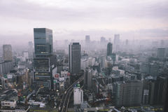 A City Buildings Under the Pollution during Daytime Royalty Free Stock Photography