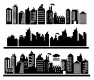 City buildings. Vector city buildings,  illustration Royalty Free Stock Photos