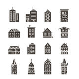 City buildings vector illustration Royalty Free Stock Photo