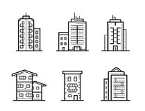City buildings vector illustration Royalty Free Stock Image