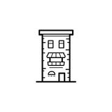 City buildings vector illustration. Icon of a building for a real estate agency. Symbol of a modern urban building. City building vector icon Stock Photography