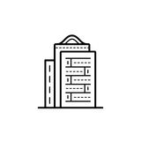 City buildings vector illustration. Icon of a building for a real estate agency. Symbol of a modern urban building. City building vector icon Stock Image