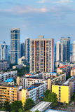 City buildings. View of a Chinese city buildings,office building,apartment building.City in south China royalty free stock photo
