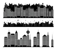 City buildings. On white background Stock Photo