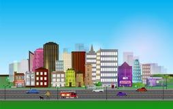 City-BuildingsOnBlue [преобразованный]-02. Big set vector illustration