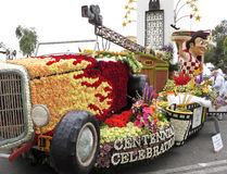 The City of Burbank's 2011 Rose Bowl Parade Float Royalty Free Stock Images