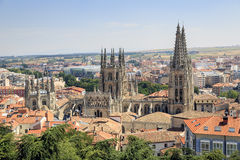 City of Burgos and the Cathedral Royalty Free Stock Image