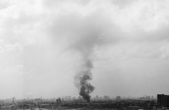 City burn. Stock Photos