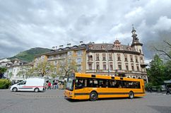 City ​​bus in the center of Bolzano Stock Photos
