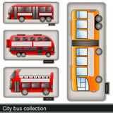 City bus collection Royalty Free Stock Images