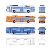City Bus Illustration Stock Image