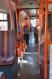 City bus interior Stock Photo