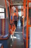 City bus interior. Interior of a modern city bus in Vienna, Austria Stock Photo