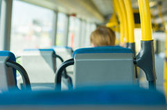 City bus interior Royalty Free Stock Photos