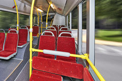 City Bus Interior Royalty Free Stock Photo