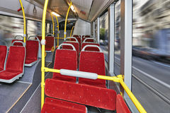 City Bus Interior Royalty Free Stock Photo