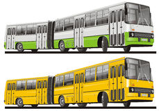 City bus isolated royalty free illustration