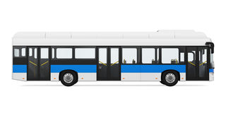 City Bus Isolated Royalty Free Stock Images