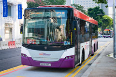 City bus, operated by SBS Transit on the Moulmein Road route Stock Image