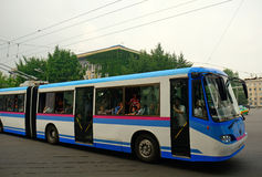 City bus, Pyongyang, North-Korea Stock Image