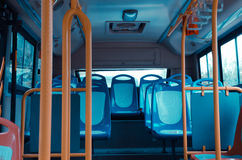 City bus seat Stock Image