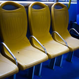 City bus seat Stock Images