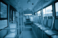 City bus seat Stock Photos