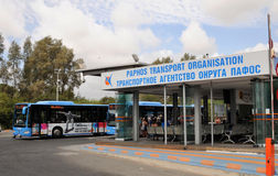 City bus service on the island of Cyprus Stock Images