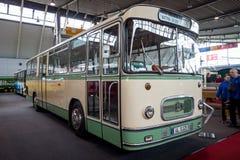 City bus Setra S 125, 1966. STUTTGART, GERMANY - MARCH 03, 2017: City bus Setra S 125, 1966. Europe`s greatest classic car exhibition `RETRO CLASSICS Royalty Free Stock Photos