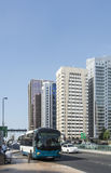 City bus and street Abu Dhabi Royalty Free Stock Photo