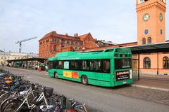 City bus in Sweden Royalty Free Stock Image