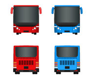 City bus template. Set Passenger transport sides view from back and front. Vector illustration eps 10. Royalty Free Stock Image