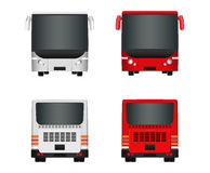 City bus template. Set Passenger transport sides view from back and front. Vector illustration eps 10. Stock Image