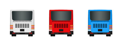 City bus template. Set Passenger transport sides view from back and front. Vector illustration eps 10 isolated Royalty Free Stock Photo